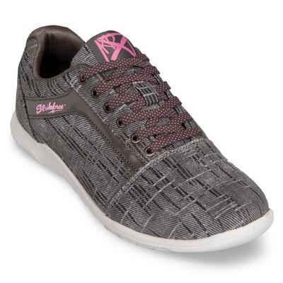 KR Strikeforce Nova Ash Grey/Hot Pink Wide Width Womens Bowling Shoes