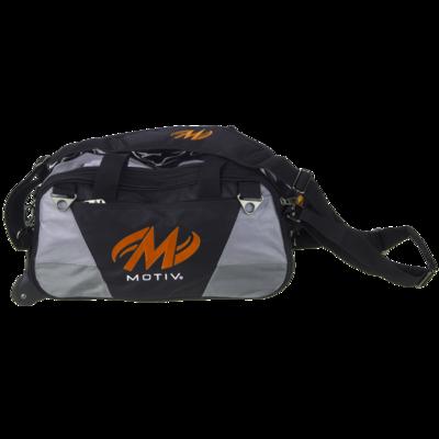 Motiv Ballistix Black/Orange 2 Ball Tote Bowling Bag