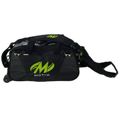 Motiv Ballistix Black/Green 2 Ball Tote Bowling Bag