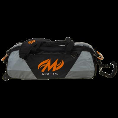 Motiv Ballistix Black/Orange 3 Ball Tote Bowling Bag