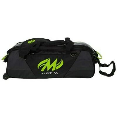 Motiv Ballistix Black/Green 3 Ball Tote Bowling Bag