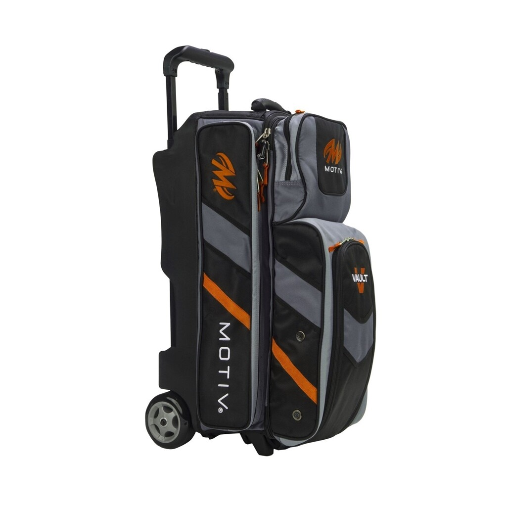 Motiv Vault Black/Orange 3 Ball Roller Bowling Bag