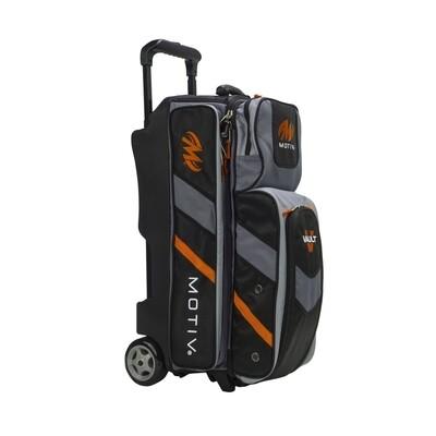 Motiv Vault Black/Orange 3 Ball Roller Bowling Bag