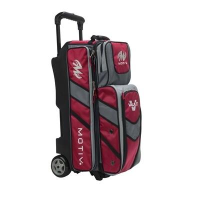 Motiv Vault Red 3 Ball Roller Bowling Bag