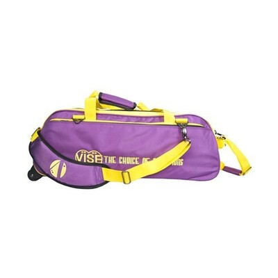 Vise 3 Ball Clear Top Tote Roller Purple/Yellow