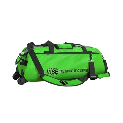 Vise 3 Ball Clear Top Tote Roller Green Bowling Bag