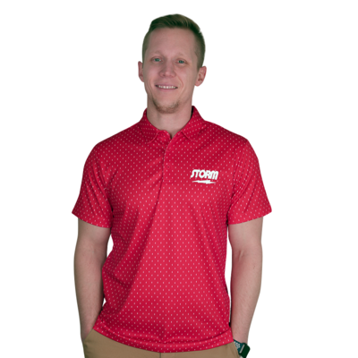 Storm Lightning Red Polo Bowling Shirt