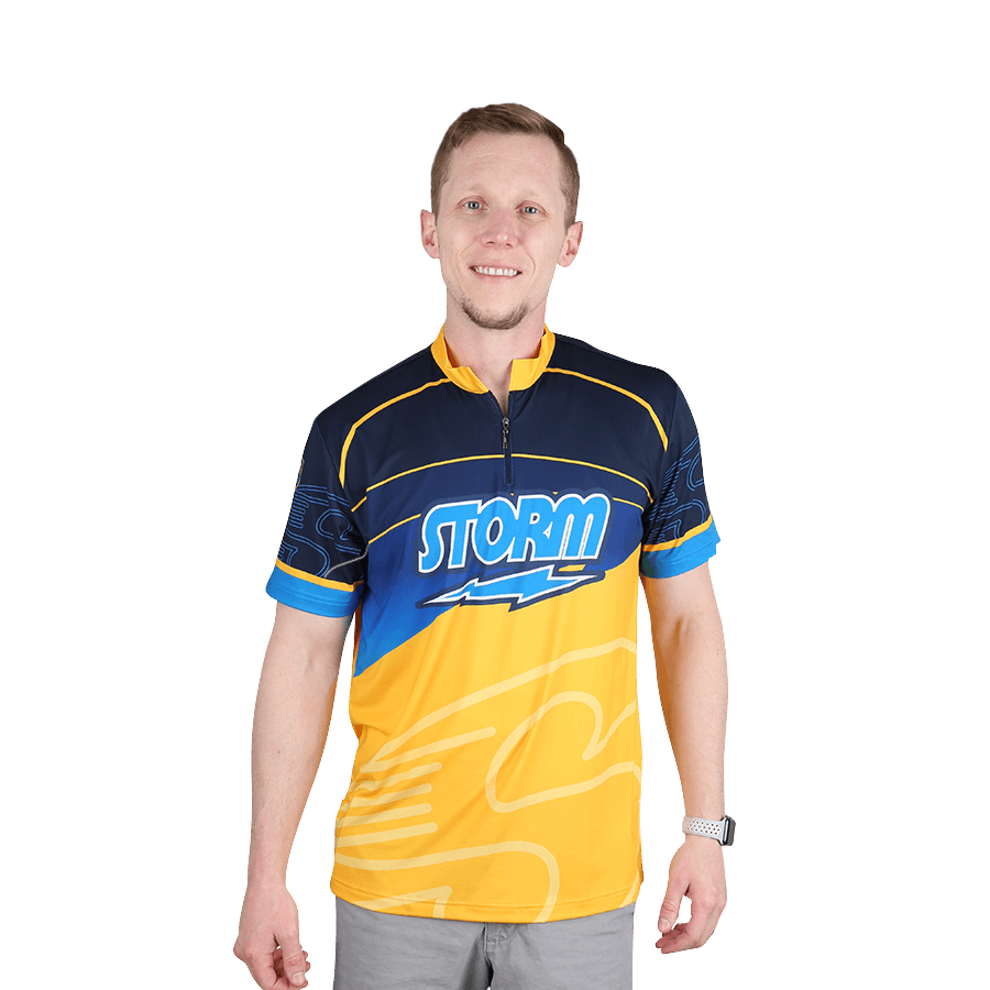 Storm Striker Blue/Gold Bowling Jersey