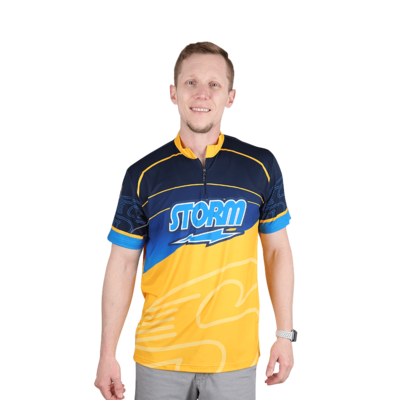 Storm Striker Blue/Gold Bowling Jersey