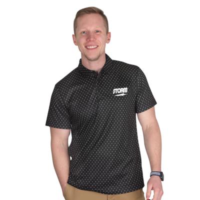 Storm Lightning Black Polo Bowling Shirt