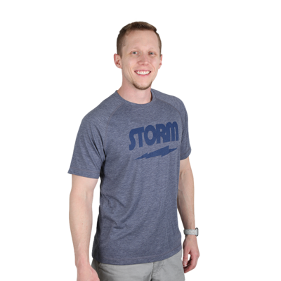 Storm Classic Tee Charcoal/Navy Bowling T-Shirt