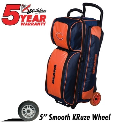 KR Strikeforce NFL Chicago Bears Triple Ball Roller Bowling Bag