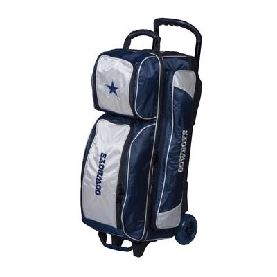 KR Strikeforce NFL Dallas Cowboys Triple Ball Roller Bowling Bag