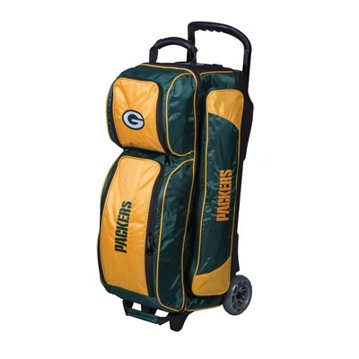 KR Strikeforce NFL Green Bay Packers Triple Ball Roller Bowling Bag