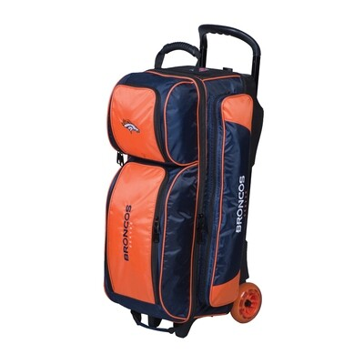 KR Strikeforce NFL Denver Broncos Triple Ball Roller Bowling Bag