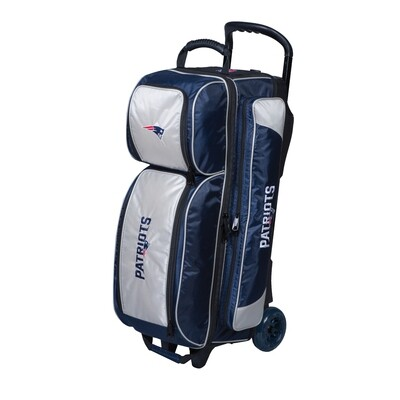 KR Strikeforce NFL New England Patriots Triple Ball Roller Bowling Bag