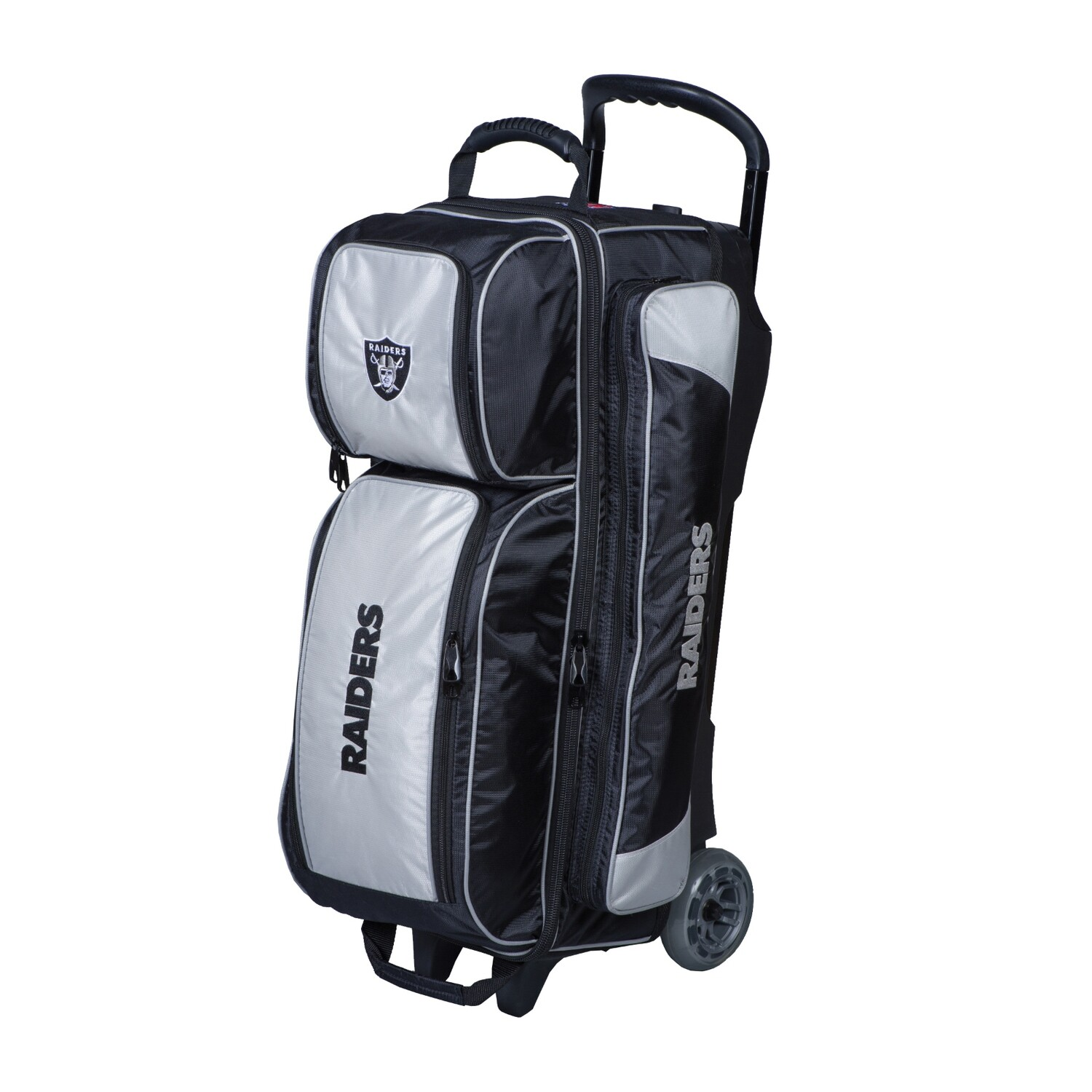 KR Strikeforce NFL Las Vegas Raiders Triple Ball Roller Bowling Bag