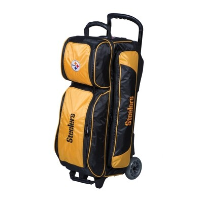KR Strikeforce NFL Pittsburgh Steelers Triple Ball Roller Bowling Bag