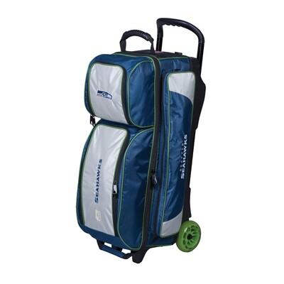 KR Strikeforce NFL Seattle Seahawks Triple Ball Roller Bowling Bag