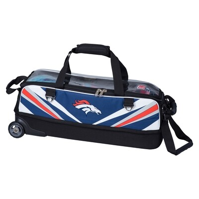 KR Strikeforce NFL Denver Broncos Slim Triple Tote Bowling Bag