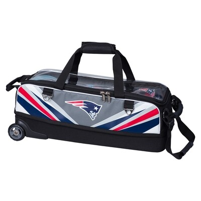 KR Strikeforce NFL New England Patriots Slim Triple Tote Bowling Bag