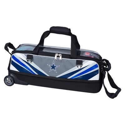 KR Strikeforce NFL Dallas Cowboys Slim Triple Tote Bowling Bag