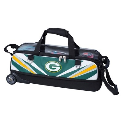 KR Strikeforce NFL Green Bay Packers Slim Triple Tote Bowling Bag