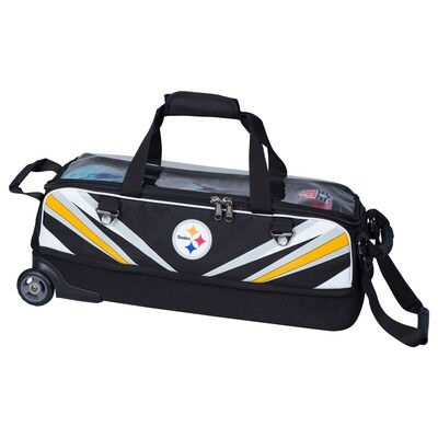 KR Strikeforce NFL Pittsburgh Steelers Slim Triple Tote Bowling Bag