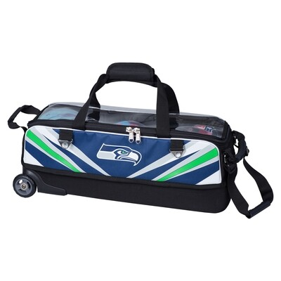 KR Strikeforce NFL Seattle Seahawks Slim Triple Tote Bowling Bag