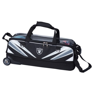 KR Strikeforce NFL Las Vegas Raiders Slim Triple Tote Bowling Bag