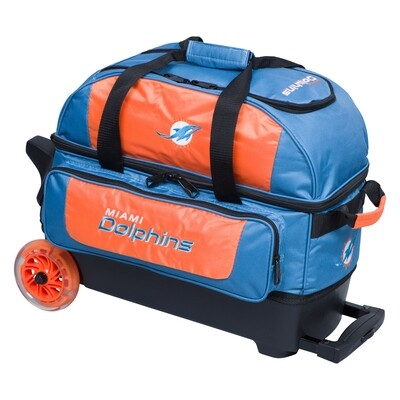 KR Strikeforce NFL Miami Dolphins Double Roller Bowling Bag