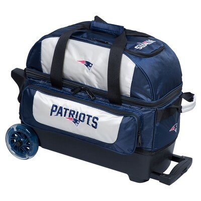 KR Strikeforce NFL New England Patriots Double Roller Bowling Bag
