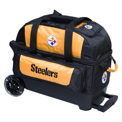 KR Strikeforce NFL Pittsburgh Steelers Double Roller Bowling Bag