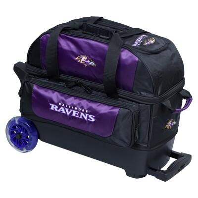 KR Strikeforce NFL Baltimore Ravens Double Roller Bowling Bag