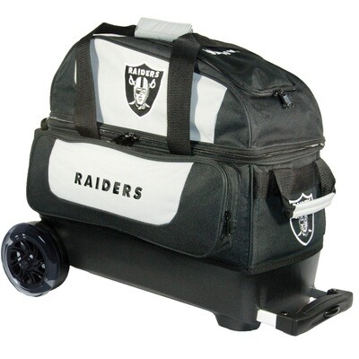 KR Strikeforce NFL Las Vegas Raiders Double Roller Bowling Bag
