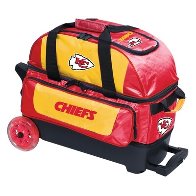 KR Strikeforce NFL Kansas City Chiefs Double Roller Bowling Bag