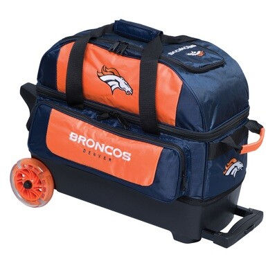KR Strikeforce NFL Denver Broncos Double Roller Bowling Bag
