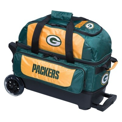 KR Strikeforce NFL Green Bay Packers Double Roller Bowling Bag