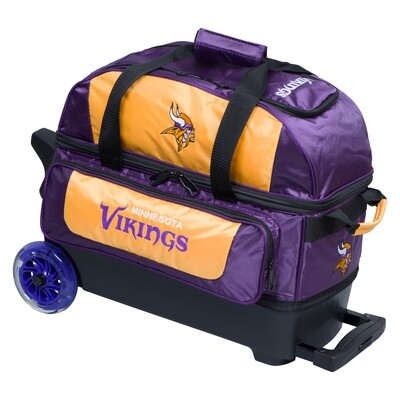 KR Strikeforce NFL Minnesota Vikings Double Roller Bowling Bag