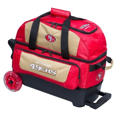 KR Strikeforce NFL San Francisco 49ers Double Roller Bowling Bag
