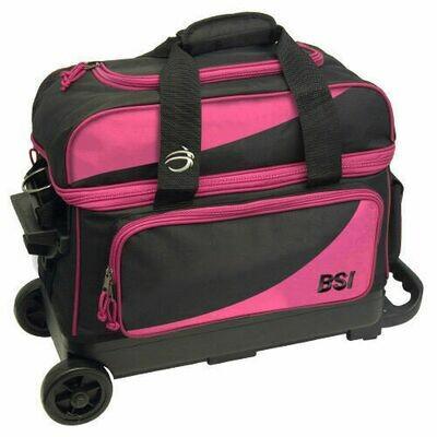 BSI Black/Pink 2 Ball Roller Bowling Bag