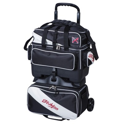 KR Strikeforce Fast Black/White 4 Ball Roller Bowling Bag