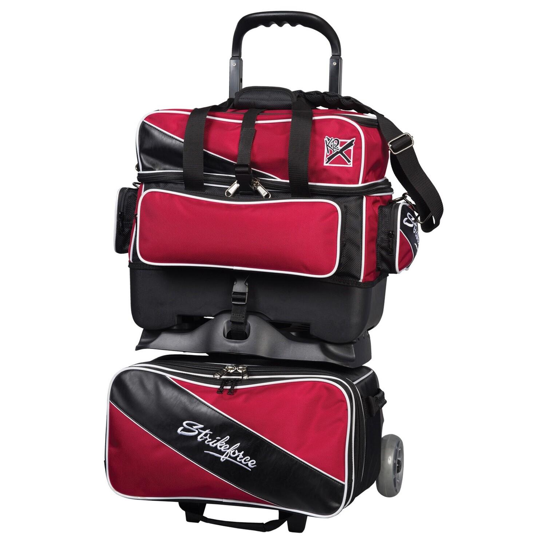 KR Strikeforce Fast Red/Black 4 Ball Roller Bowling Bag