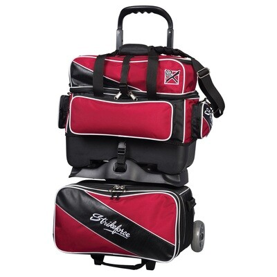 KR Strikeforce Fast Red/Black 4 Ball Roller Bowling Bag