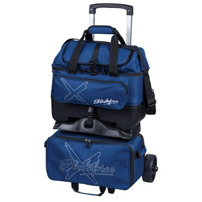 KR Strikeforce Hybrid X Navy 4 Ball Roller Bowling Bag
