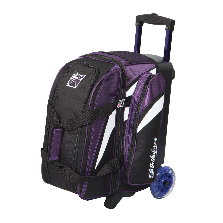 KR Strikeforce Cruiser Purple/White/Black 2 Ball Roller Bowling Bag