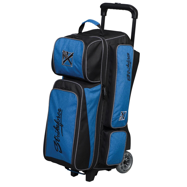 KR Strikeforce KRush Blue/Black 3 Ball Roller Bowling Bag