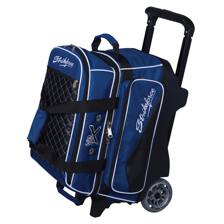 KR Strikeforce Royal Flush Blue/Black 2 Ball Roller Bowling Bag