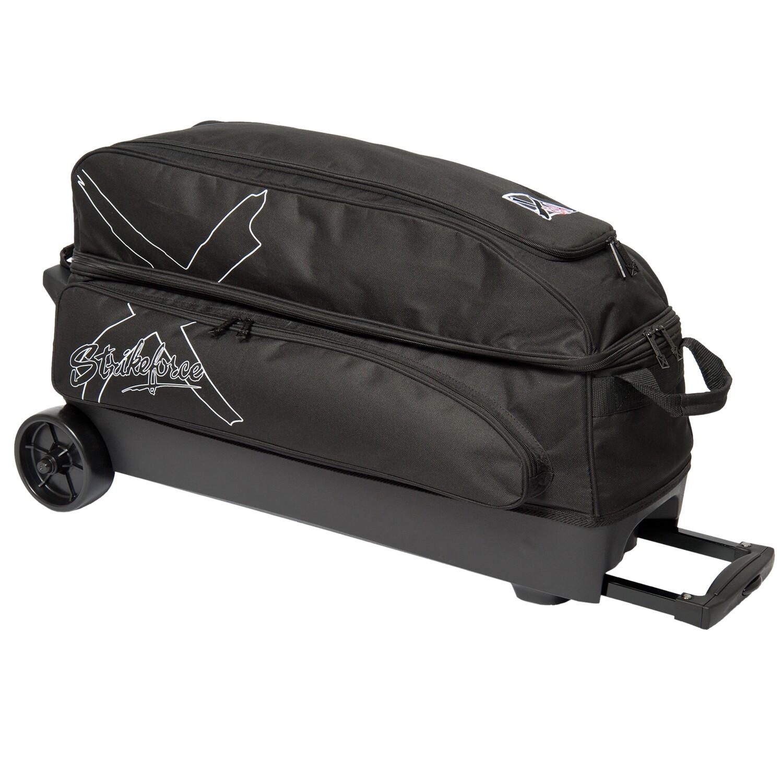 KR Strikeforce Hybrid X Black 3 Ball Roller Bowling Bag