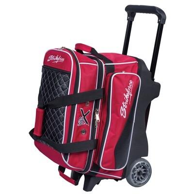 KR Strikeforce Royal Flush Red 2 Ball Roller Bowling Bag